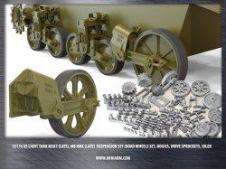 画像1: Miniarm[B35176]1/35 WWII米 M5A1スチュアート/M8自走砲 足回りセット 後期型