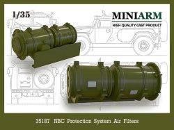 画像1: Miniarm[B35187]1/35 現用 ロシア NBC保護システムエアフィルター(モンモデル、イグザクトモデル製GAZ-2330対応)