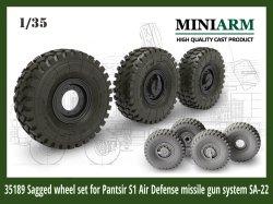 画像1: Miniarm[B35189]1/35 現用 ロシア パーンツィリS1対空防御システム用自重変形タイヤセット(タイガーモデル/モンモデル/トランペッター対応)
