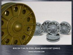 画像1: Miniarm[B35154]1/35 T-34/76 鋼製転輪セット(初期型)(DML/ズベズダ用)