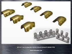 画像1: Miniarm[B35161]1/35 T-34/SU自走砲 排気管装甲カバー(7種)