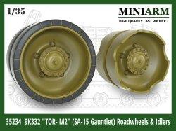 """画像1: Miniarm[B35234]1/35 現用 ロシア地対空ミサイル トール2M""""SA-15ガントレット""""転輪/誘導輪セット(ズベズダ/タコム用)"""