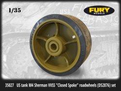 画像1: Fury Models[FM35027]1/35 WWII 米 M4シャーマン戦車 VVSS用クローズドスポーク転輪(D52876)セット
