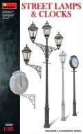 ミニアート[MA35560]1/35 街燈と時計