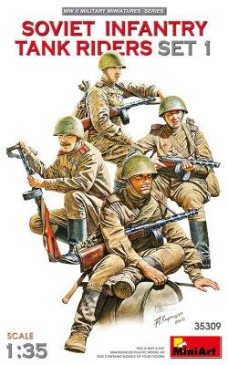 画像1: ミニアート[MA35309]1/35 ソビエト歩兵戦車乗員セット1(4体入)