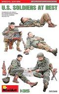 ミニアート[MA35318]1/35アメリカ兵 休息中5体入 特別版(歩兵用武器・装備品付)