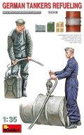 ミニアート[MA35348]1/35ドイツ兵 燃料補給中2体入(ドラム缶2個+石油缶4個付)