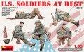 ミニアート[MA35200]1/35 アメリカ軍歩兵(休息中)5体入