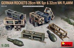 画像1: ミニアート[MA35316]1/35 ドイツ製28cmロケット榴弾&32cmロケット焼夷弾セット