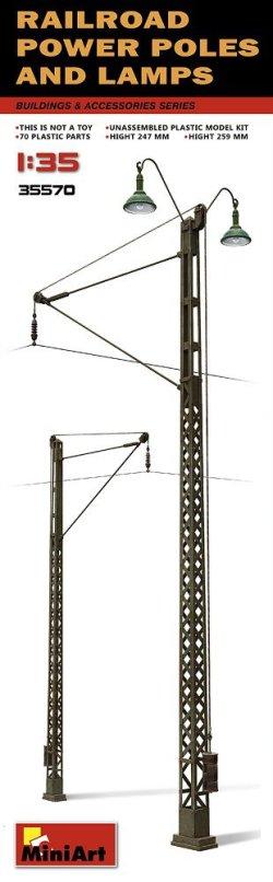 画像2: ミニアート[MA35570]1/35 架線柱とランプ