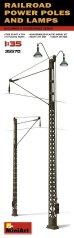 画像2: ミニアート[MA35570]1/35 架線柱とランプ (2)