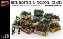 画像1: ミニアート[MA35574]1/35 ビールビン&木枠箱