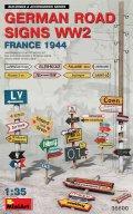 ミニアート[MA35600]1/35 ドイツ道路標識WW2 (フランス1994)