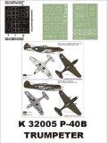 Montex[K32005]1/32P-40Bアメリカ空軍 (トランペッター用)