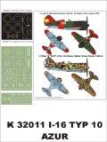 Montex[K32011]1/32 Polikarpow I-16 (Spain)