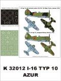 Montex[K32012]1/32ポリカルポフ I-16 ロシア空軍 (アズール用)