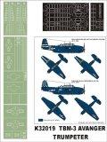 Montex[K32019]1/32TBF-3 アヴェンジャー(トランペッター用)