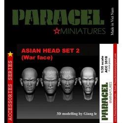 画像1: Paracel Miniatures[ACC3518]1/35 東洋人ヘッドセット2(表情有り4個セット)
