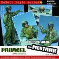 Paracel Miniatures[BDE3501]1/35 現用 米 湾岸戦争 米海兵隊M60戦車搭乗員セット「湾岸戦争」(4体セット)