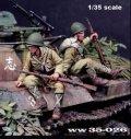 Paracel Miniatures[WW35-026]1/35 WWII日本帝国陸軍 戦車跨乗兵セットA 据わる跨乗兵