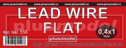 画像2: PlusModel[PM558]Lead wire flat 0.4 x 1 mm