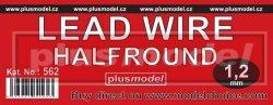 画像1: PlusModel[PM562]Lead wire halfround 1.2 mm