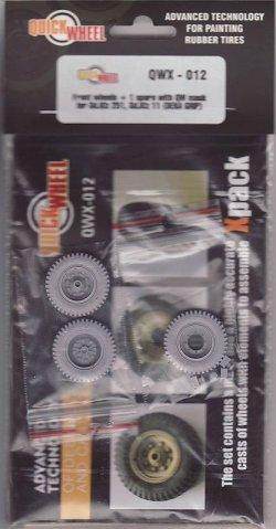 画像1: QuickWheel[QWX-012]sd.kfz.251 & 11フロントホィール  (DEKA GRIP) (スペア付)