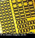 Rado Miniatures[RDM35PE08]1/35 WWII ドイツ武装親衛隊記章セット♯2
