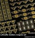Rado Miniatures[RDM16PE02]1/16 WWII 独 ドイツ空軍兵士記章セット