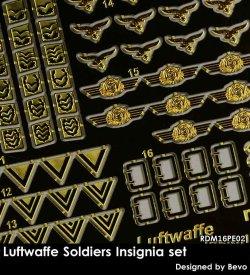 画像1: Rado Miniatures[RDM16PE02]1/16 WWII 独 ドイツ空軍兵士記章セット
