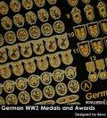 Rado Miniatures[RDM16PE04]1/16 WWII 独 ドイツ軍表彰メダルおよび勲章セット