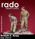 Rado Miniatures[RDM35009]1/35 WWII英 第8軍兵士 イタリア 1943-45 2体セット