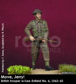 画像1: Rado Miniatures[RDM35023]1/35 WWII 英 エンフィールドライフルを構えるイギリス陸軍斥候 1944-45