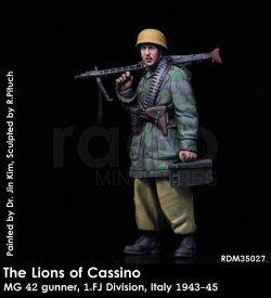 画像1: Rado Miniatures[RDM35027]1/35 WWII 独 カッシーノのライオン(2) 1'FJ(第1降下猟兵師団)MG42ガンナー イタリア 1943-45
