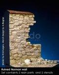 Rado Miniatures[RDM35B02]1/35 WWII ジオラマベース 破壊されたノルマン石壁 ノルマンディー1944
