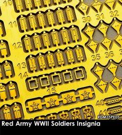 画像1: Rado Miniatures[RDM35PE05]1/35 WWII 露/ソ ロシア赤軍兵士記章エッチングパーツセット