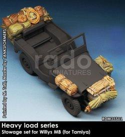 画像1: Rado Miniatures[RDM35S01]1/35 WWII 米 ウィルスMBジープ用収納カーゴセット