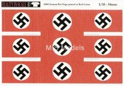 画像1: Reality in Scale[RIS35005]本物の綿布に印刷された独(スワスチカ)国旗 (9枚)