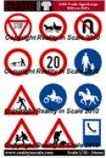 Reality in Scale[RIS35106]ヨーロッパの交通標識1930-1950年代
