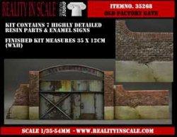 画像1: Reality in Scale[RIS35268]古びた工場の門扉