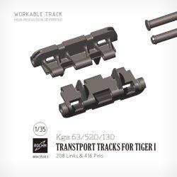 画像1: ロコムモデル[RK35003]1/35 WWII ドイツタイガーI型戦車鉄道輸送用履帯セット(連結式)