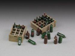画像1: RoyalModel[RM655]1/35 ワインボトルと運搬用木箱