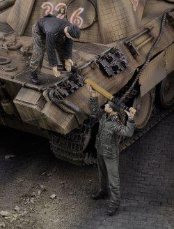 画像1: RoyalModel[RM668]1/35 独 WWII砲弾を補給するドイツ戦車兵