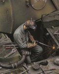 RoyalModel[RM683]1/35 独 WWII電気溶接をするドイツ整備兵 No.1
