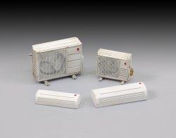 画像1: RoyalModel[RM751]1/35 家庭エアコンと室外機セット