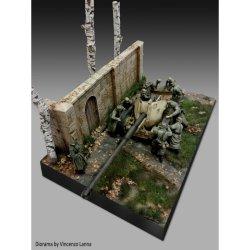 画像2: RoyalModel[RM883]1/35 ジオラマ素材 木製扉のある石積み壁