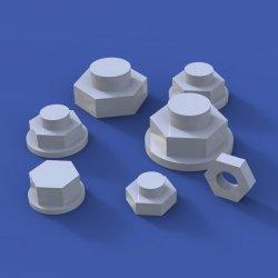 画像1: RoyalModel[RM915]1/35 汎用 ボルト&ナットアソートセット No.1