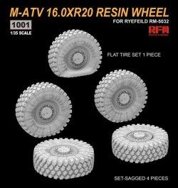 画像1: ライフィールドモデル[RFM1001]1/35 M-ATV MRAP用レジン製16.0 x R20 ホイールセット