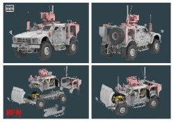 画像2: ライフィールドモデル[RFM5052]1/35 M1240A1 M-ATV w/M153 CROWS II & フルインテリア