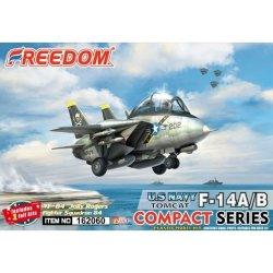 画像1: フリーダムモデルキット[FRE162060]コンパクトシリーズ:F-14A/B トムキャット/ボムキャット 米海軍 VF-84 ジョリーロジャーズ 2 in 1